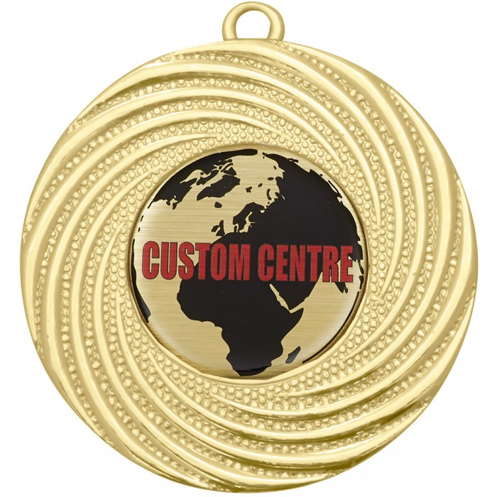 CUSTOM CENTRE BUDGET MEDAL - 50MM  -GOLD, SILVER OR BRONZE